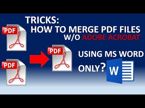 How To Merge PDF Files Into One File Without Using Adobe Acrobat (Tricks)