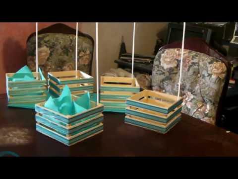 Como hacer un dulcero para bautizo youtube - Como decorar cajas de madera para centros de mesa ...