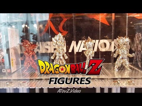 Silver and Gold Dragon Ball Action Figure Collection at Toys and Comic Fair