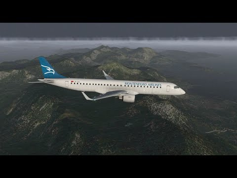 X-Plane 11 - Montenegro Airlines Embraer E195 from Belgrade to Tivat