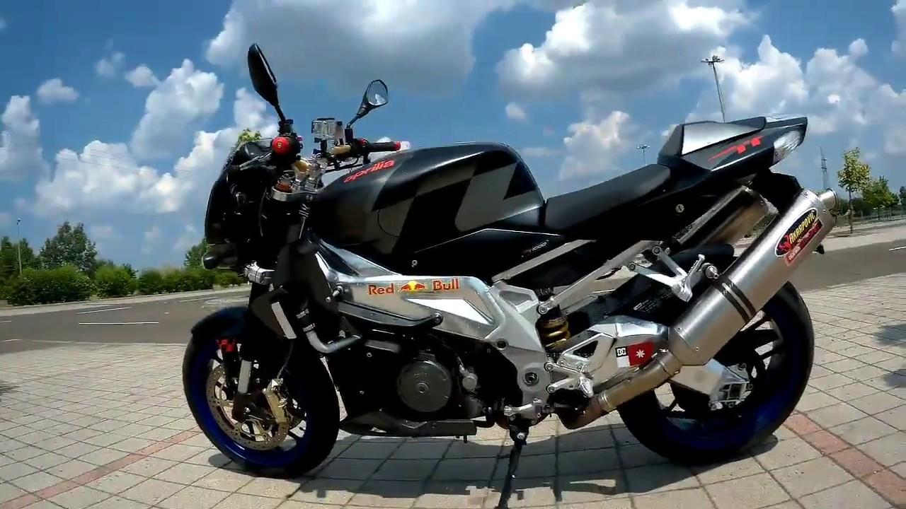 aprilia Tuono 1000r with dual Akrapovic 720p review and ride