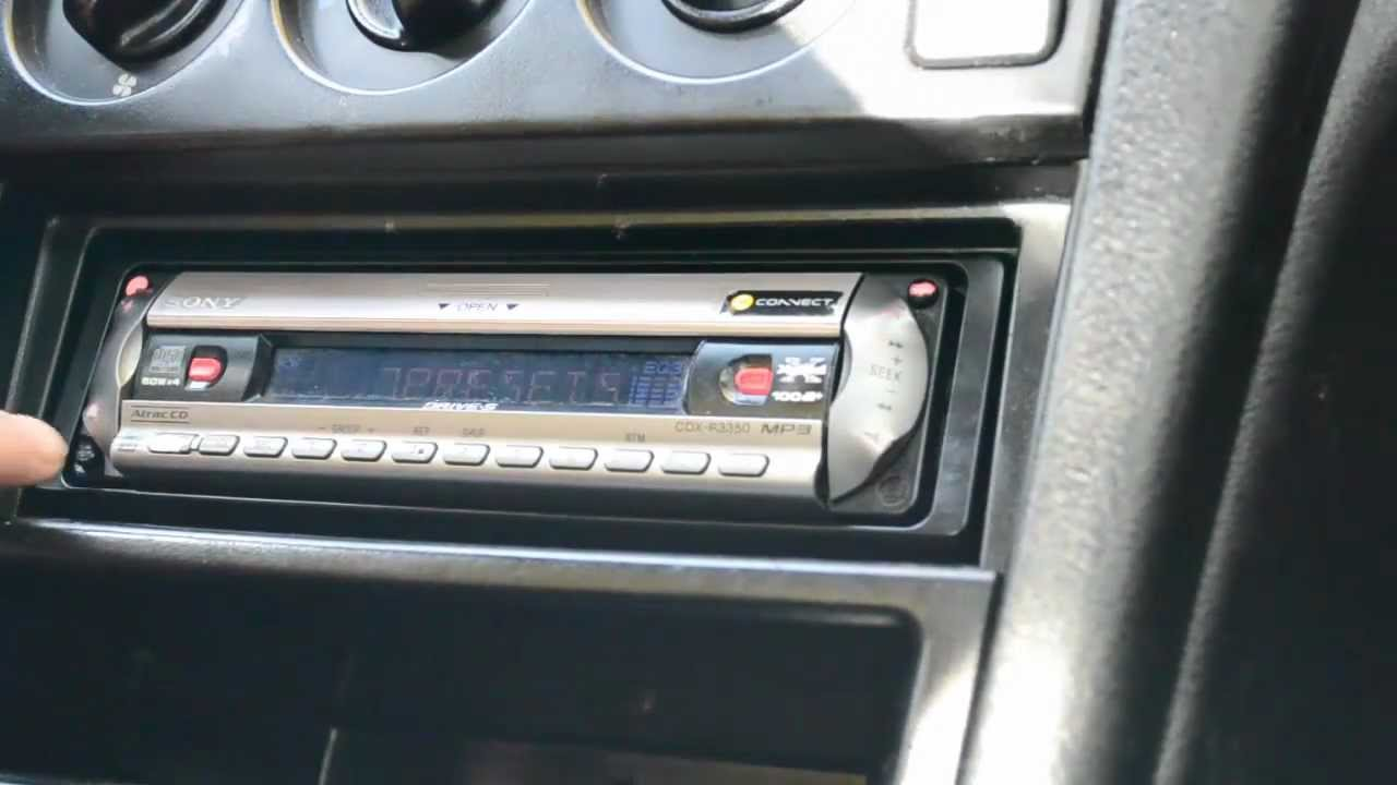 how to remove a car radio without special tools keys e g sony cdx r3350 youtube [ 1280 x 720 Pixel ]