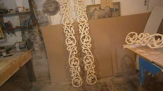 Резьба по дереву. Осмотр свадебной арки.