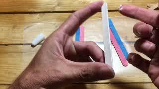 Making Transgender Pride Flag out of craft sticks