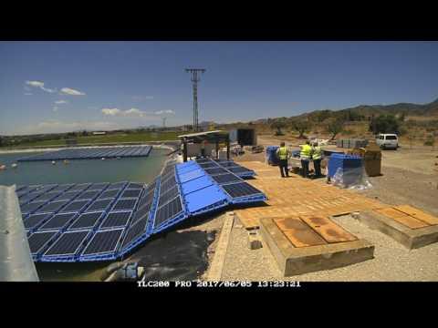Installation process - Proceso de Instalación TimeLapse @ISIGENERE @ISIFLOATING Floating solar