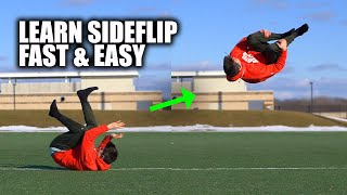 Learn to SideFlip Easiest way Fast Parkour- Turn a SideRoll into a Side Flip