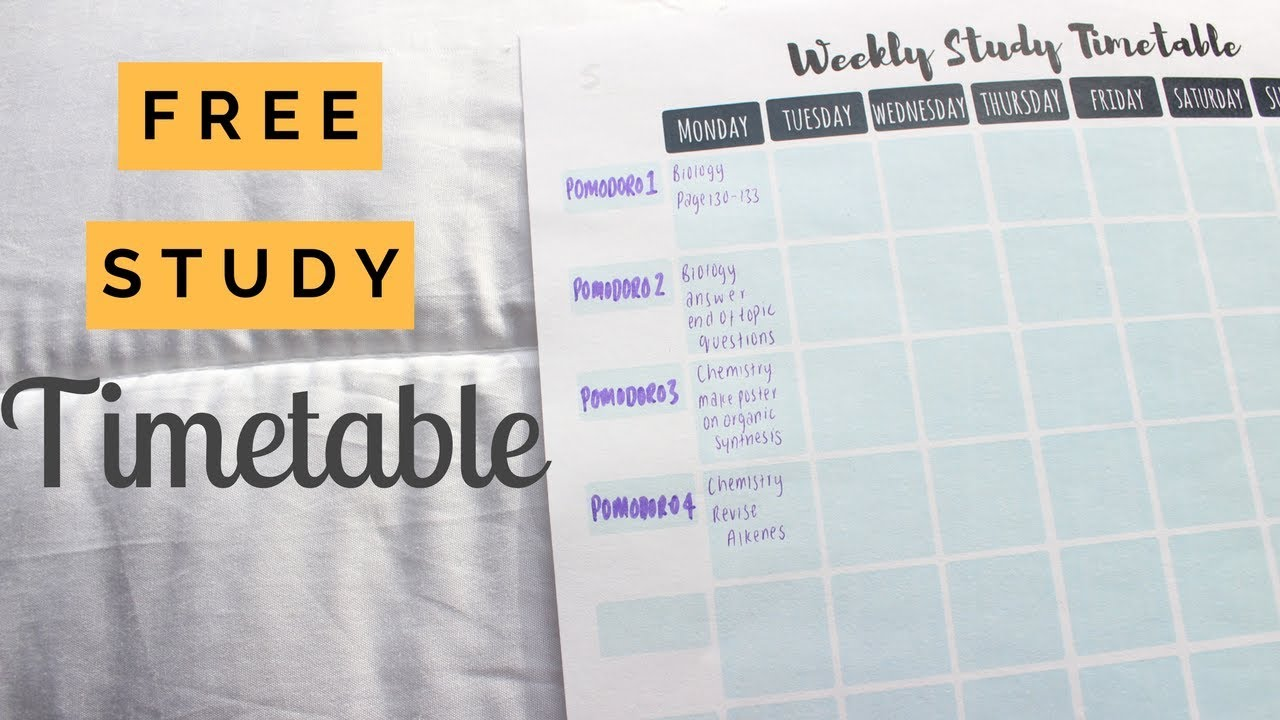 how to make the best revision timetable