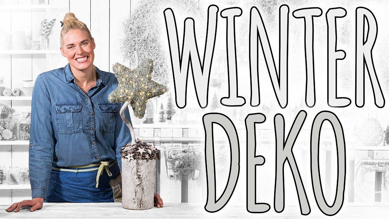 Winterdeko im shabby schick f rs fenster diy youtube for Winterdekoration fenster