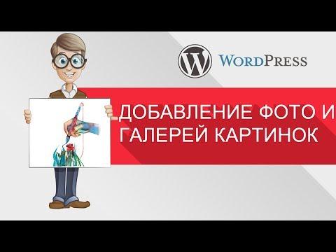 Добавление фотографий и галерей картинок для WordPress (WordPress для начинающих)