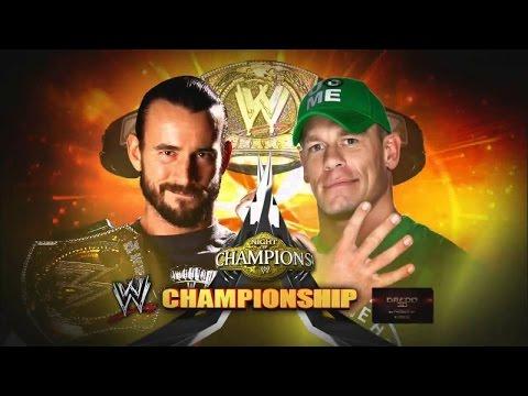 WWE Cm Punk Vs. John Cena - Night of Champions 2012 Highlights