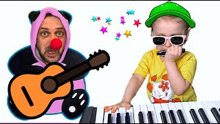 Super Eva Pretend Play Talent Show with Musical Instruments Toys for Kids