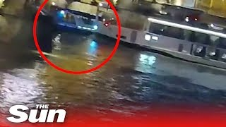 CCTV shows moment of Budapest boat tragedy