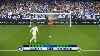 CHELSEA FC vs REAL MADRID | UEFA Champions League - UCL | Penalty Shootout | PES 2018 Gameplay PC