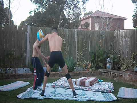 WWE Sin Cara VS Dolph Ziggler (Backyard Wrestling) - YouTube