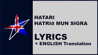 HATARI - Hatrið mun sigra - LYRICS with ENGLISH translation (Iceland Eurovision 2019)