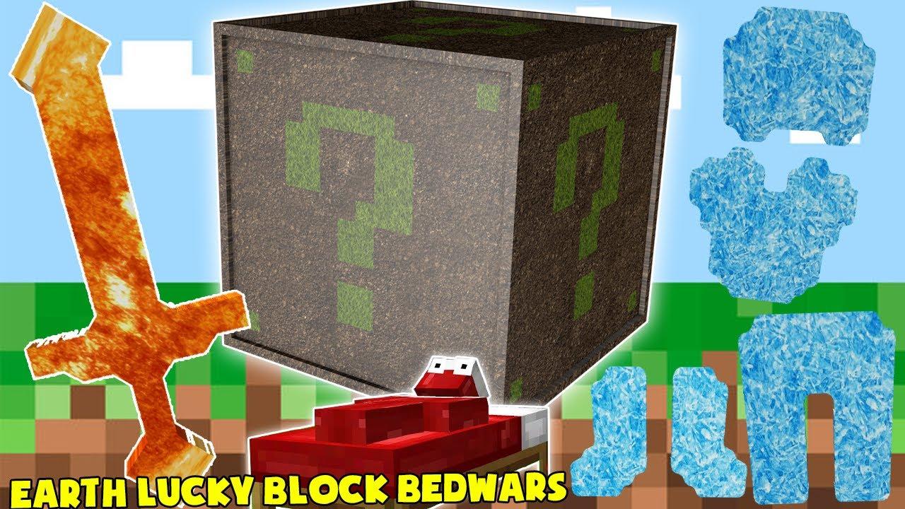 MINI GAME : EARTH LUCKY BLOCK BEDWARS ** CHIẾC GẬY SIÊU KHÓ CHỊU MÀ AI CŨNG SỢ ??