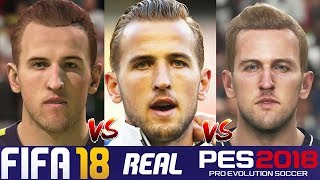 Fifa 18 vs pes 18 spurs faces comparison (kane, dele alli + more)