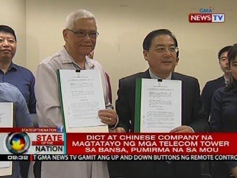 DICT at Chinese company na magtatayo ng mga telecom tower sa bansa, pumirma na sa MOU