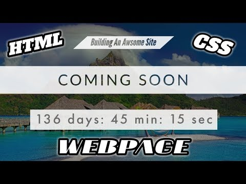 AMAZING COMING SOON WEBSITE | HTML, CSS AND JavaScript Tutorial thumbnail
