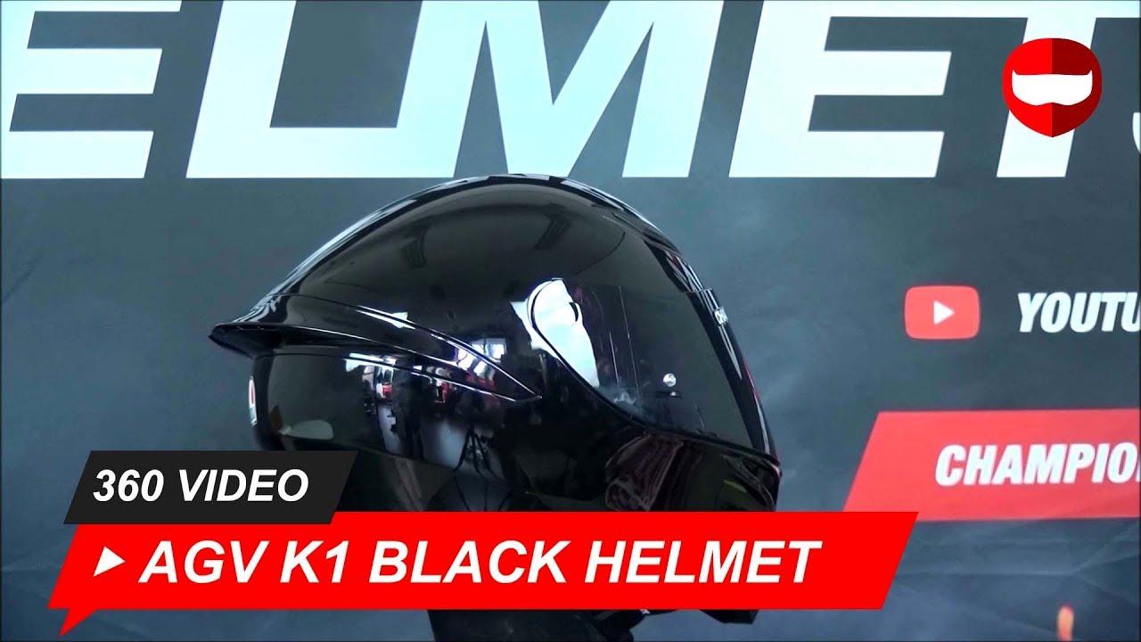 Agv K1 Glossy Black Helmet Championhelmets Com Youtube