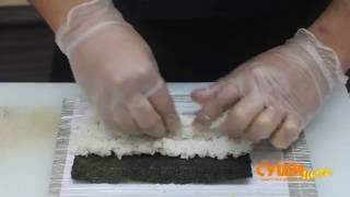 Как приготовить суши (Канадский ролл). Суши Шоп. / How to make Canadian sushi.