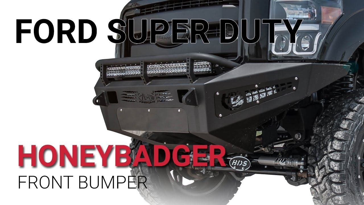 2011 - 2016 Ford Super Duty F-250/F-350 HoneyBadger Winch Front Bumper