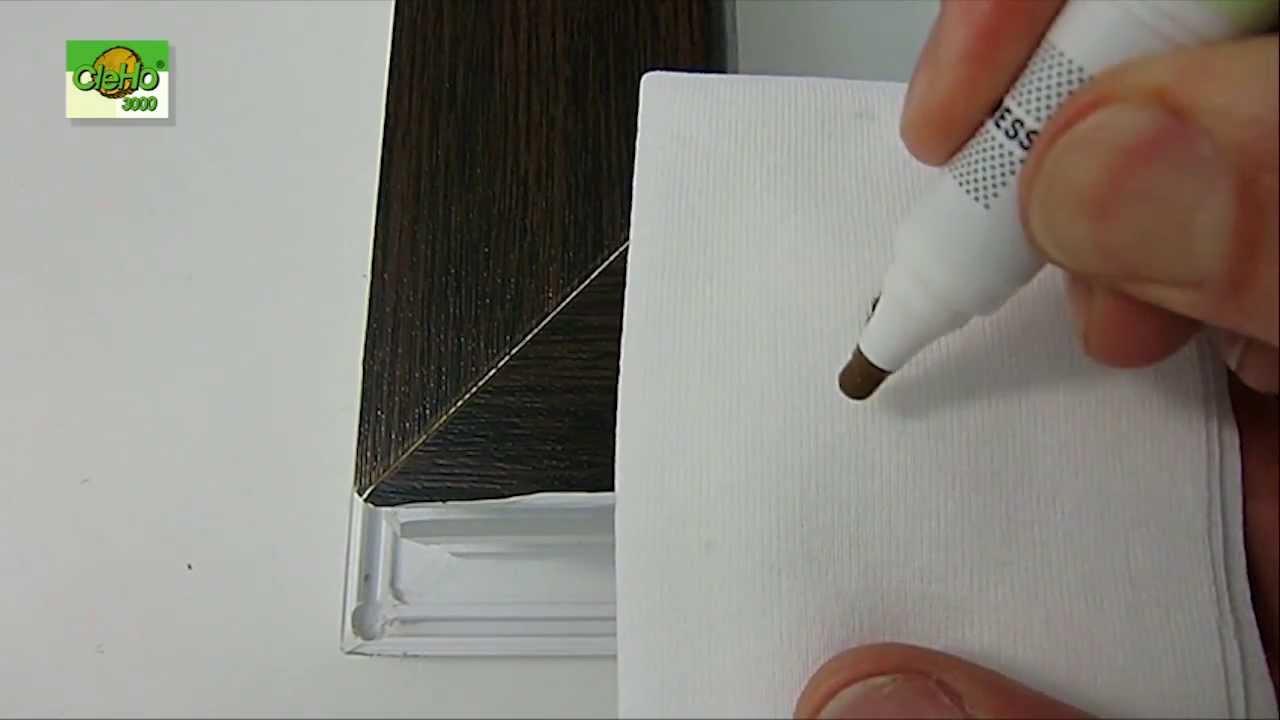 Lcher in kunststofffenster reparieren