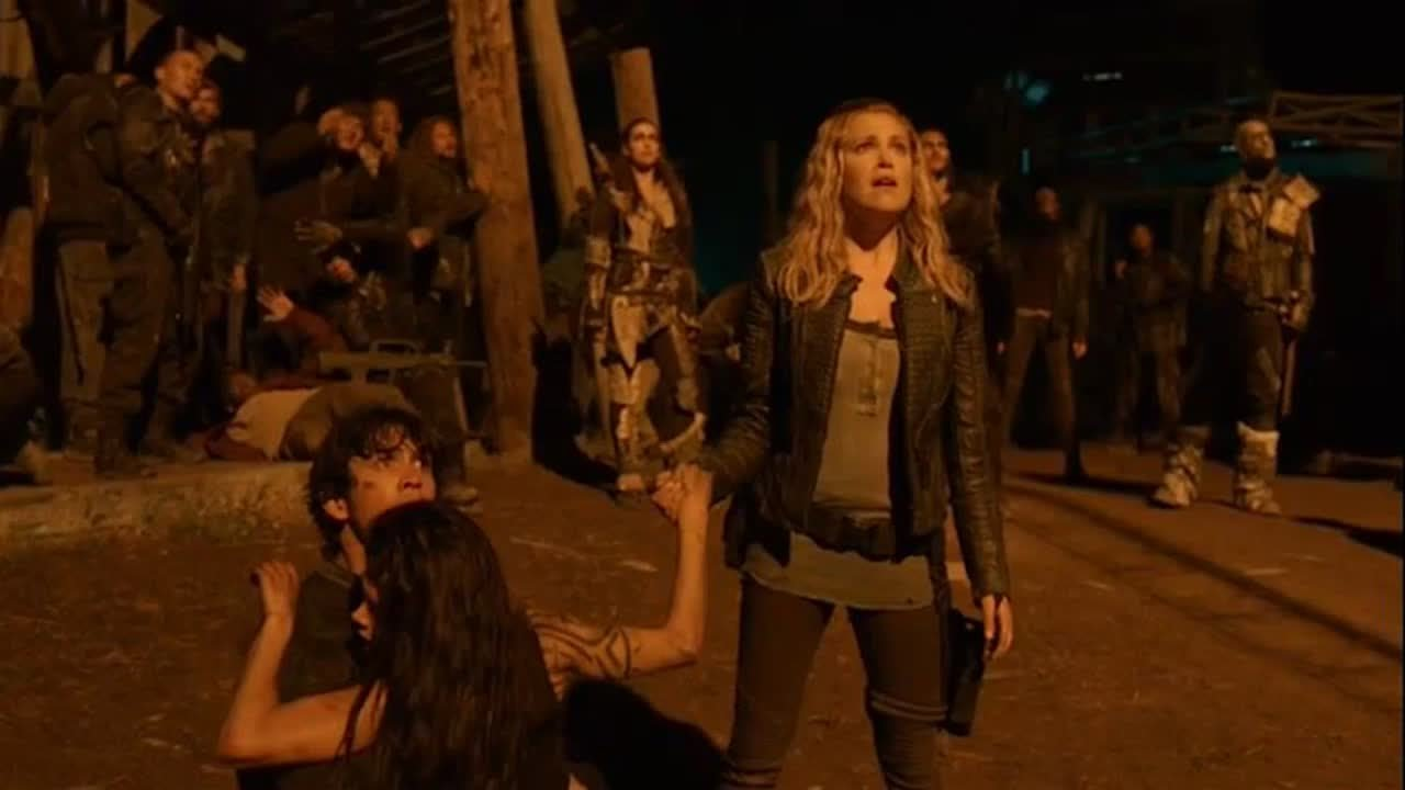 the 100 season 5 trailer preview clarke and bellamy. Black Bedroom Furniture Sets. Home Design Ideas