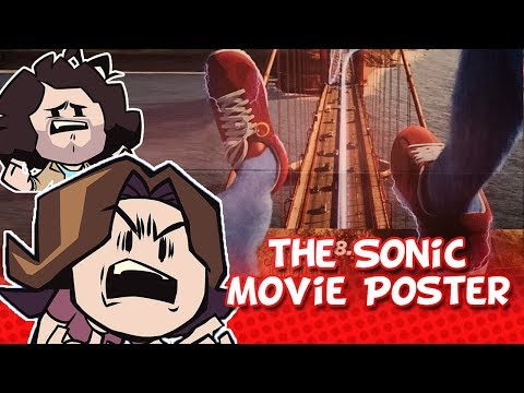 Game Grumps: Arin Reacts to the Sonic Movie poster