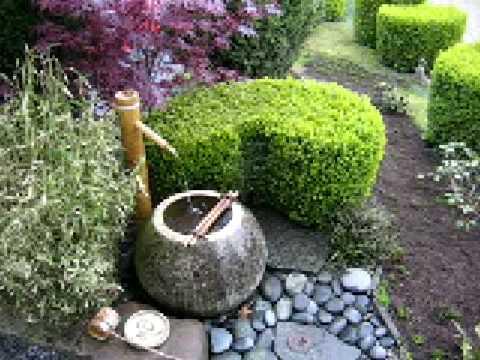 The Tsubo-en Zen garden (karesansui)  tsukubai (chouzubachi)