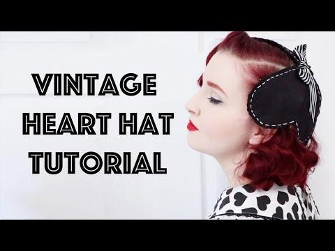 Vintage Valentine's Day Hat Tutorial