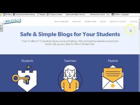 How to Login to Kidblog - 2nd Grade - YouTube