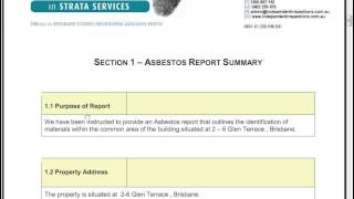 Asbestos Management for Strata and Commercial Buildings Part 1