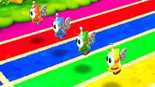Mario Party: The Top 100 All Minigames - Mario vs Yoshi vs Peach vs Rosalina (Master CPU)