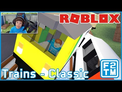 CRASHING TRAINS FOR FUN!!! Roblox Trains (Classic)