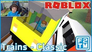 CRASHING TRAINS FOR FUN!!! Roblox Trains (Classic)