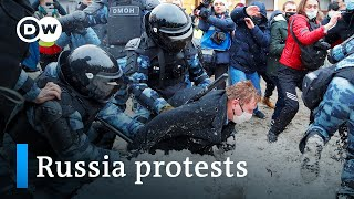 Crackdown in Russia: Kremlin calls anti-Putin protesters 'hooligans' | DW News