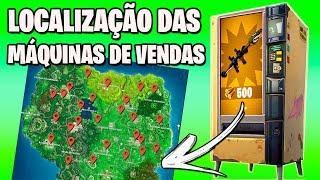 LOCALIZAÇÃO DAS MÁQUINAS DE VENDAS - Fortnite Battle Royale