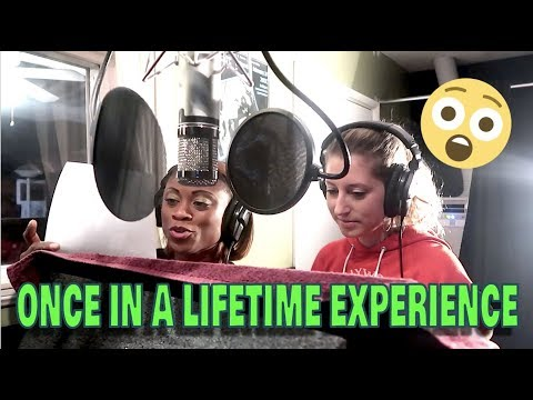 MY FIRST TIME IN THE STUDIO || I'M A CARTOON || LIFE WITH JACKIE FAMILY VLOGS