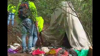 Cambuche de los rompevidrios: en una montaña de Bogotá ocultaban armas de juguete y bolsos
