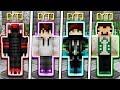 WHICH YOUTUBER WILL WIN?! (Minecraft Skywars 1v1v1v1)