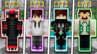 WHICH YOUTUBER WILL WIN?! (Minecraft Skywars 1v1v1v1)