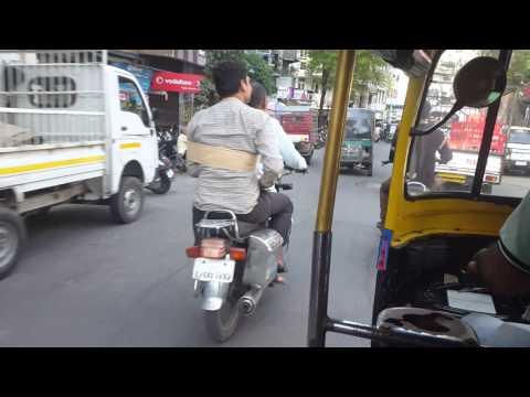 Surat chauta bazar rickshaw ride 4K