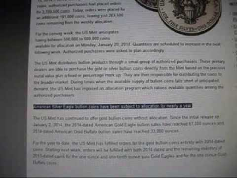 Evidence: US Mint is corrupt OR there