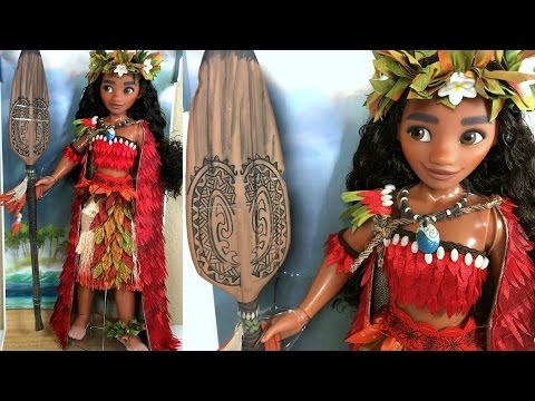 """Disney Limited Edition 17"""" Moana VOYAGER DOLL Review / Chief outfit / red cape"""