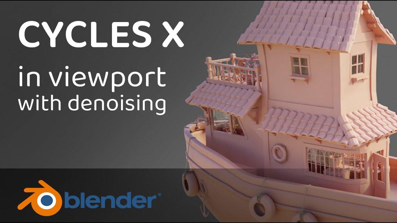 Blender - Comparison of viewport rendering real time between EEVEE - CYCLES - CYCLES X
