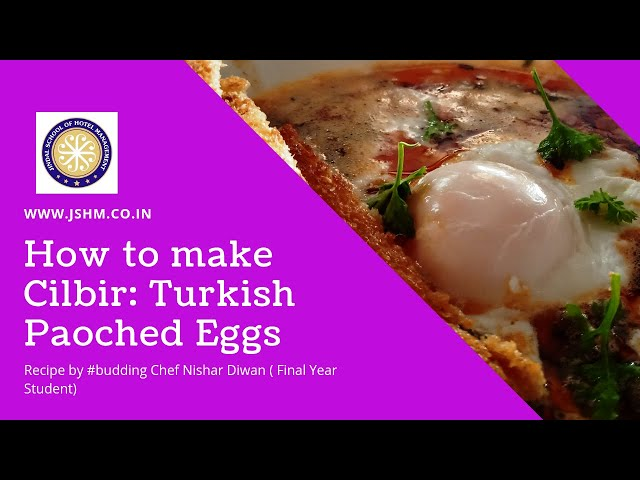 Recipe of Cilbir (Turkish poached eggs)