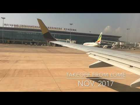 Smooth taxi and takeoff from Lomé, Tokouin Airport, Nov 2017