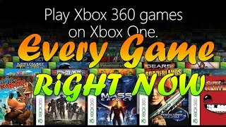 Every Game Available For Xbox One Backwards Compatibility | UPDATED