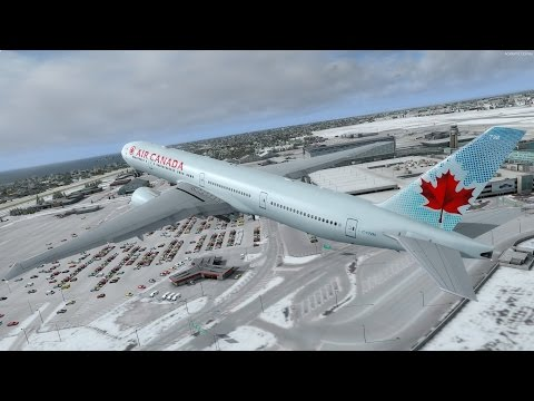 [P3D] Too Much VATSIM Traffic on Departure! | Air Canada PMDG 777 at Snowy Montreal